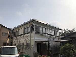 桐生市 外壁塗装 足場解体