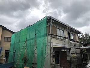 桐生市 外壁屋根塗装 足場