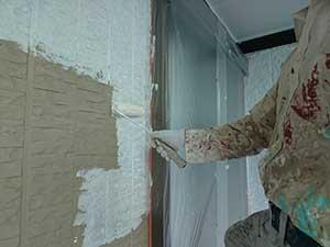 前橋市富士見町 外壁下塗り