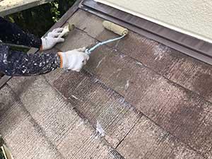 前橋市富士見町 下屋根下塗り一回目
