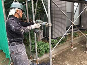 吉岡町 外壁と屋根塗装 足場工事