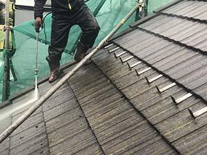 吉岡町 外壁と屋根塗装 洗浄