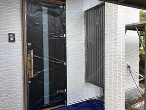 長野県東御市 別荘 外壁下塗り