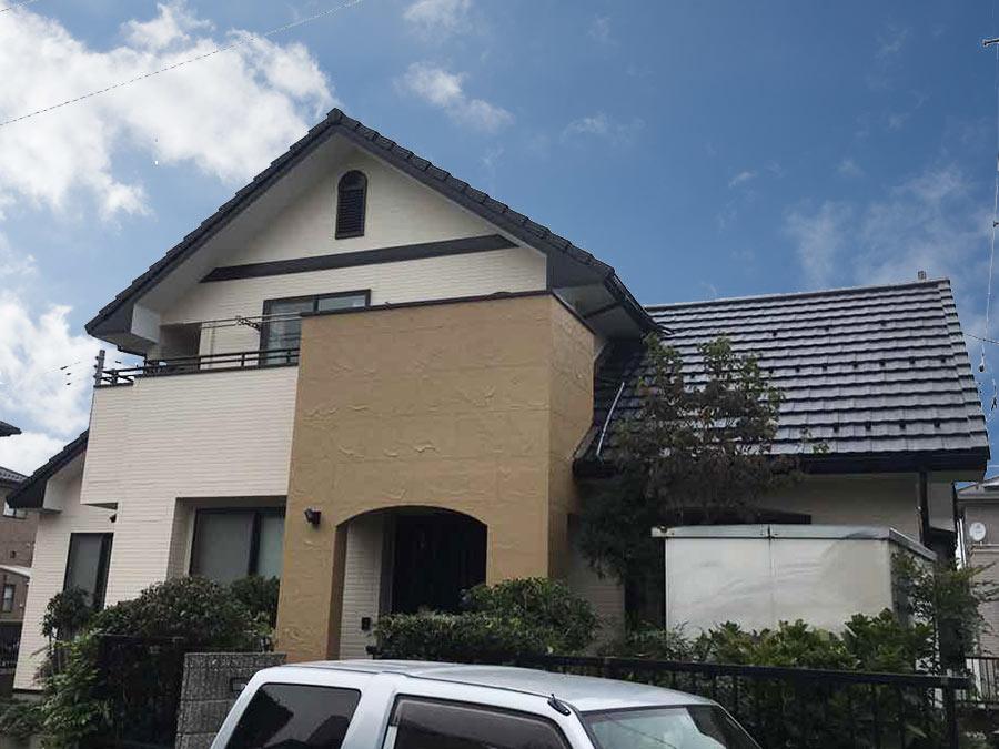 北群馬郡吉岡町T様 サイディング外壁・モニエル瓦屋根塗装 完工