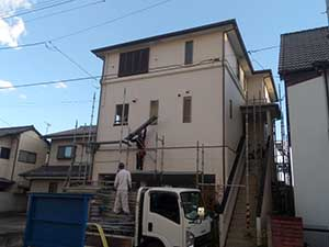 高崎市宮元町 外壁・屋根塗装 足場解体