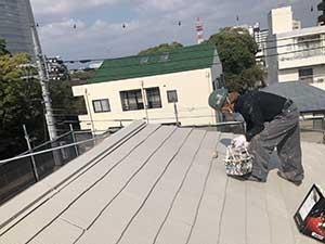 高崎市宮元町 屋根アレスクール上塗り