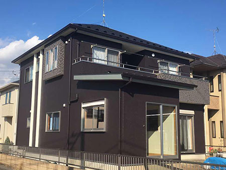 太田市 外壁 フッ素塗装後