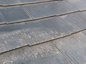 前橋市三俣町 スレート屋根塗料剥離