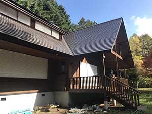 軽井沢町南ヶ丘 別荘外壁屋根塗装