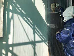 太田市 増築部段差 下吹きリシン