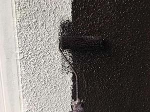 太田市 モルタル外壁塗装 中塗り