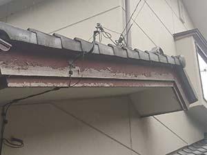 前橋市富士見町 破風板はがれ