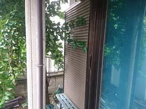 前橋市富士見町 雨戸塗装前