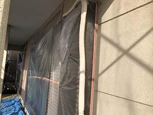 前橋市富士見町 外壁塗装養生
