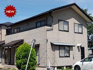 前橋市岩神町 コーキングのひび割れ補修後、外壁と屋根の塗り替え工事