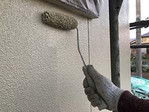 前橋市富士見町 外壁上塗り