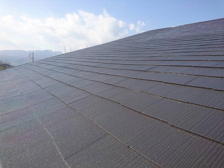 渋川市赤城町 カラーベスト屋根 塗装工事