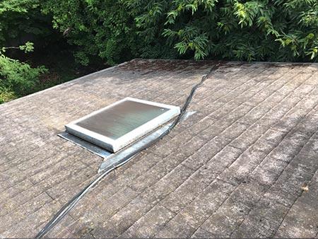 渋川市赤城町 カラーベスト屋根 塗装前