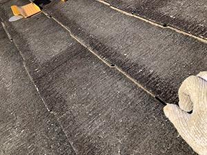 前橋市富士見町 タスペーサーと屋根ひび割れ補修