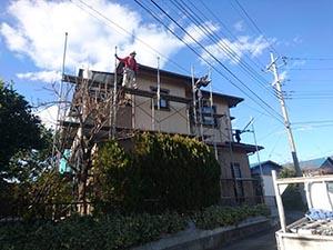 前橋市富士見町 足場