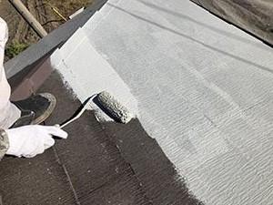 前橋市富士見町 屋根下塗り