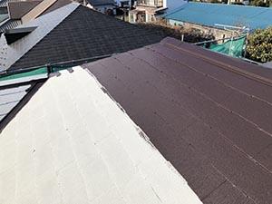 前橋市富士見町 屋根中塗り