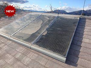 温水器付き屋根塗装