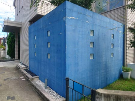 外塀塗装前