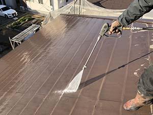 前橋市箱田町 外壁屋根 高圧洗浄
