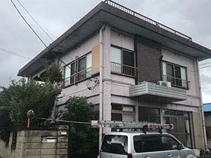 桐生市相生町 屋上フロン防水とリシン外壁塗装