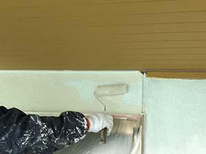 桐生市相生町 外壁中塗り