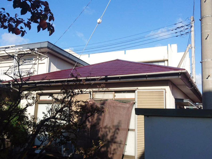 前橋市天川町 屋根塗装 施工事例