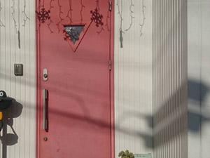 高崎市上中居町 玄関ドア塗装前