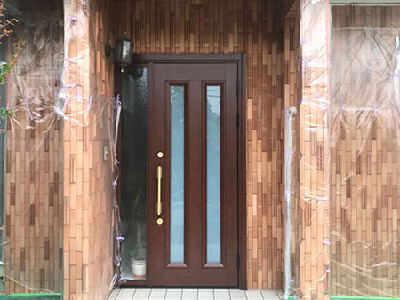 玄関ドア 交換後