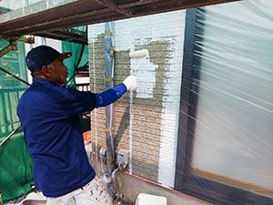 高崎市新町  外壁下塗り