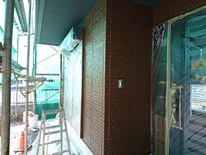 高崎市新町  外壁上塗り
