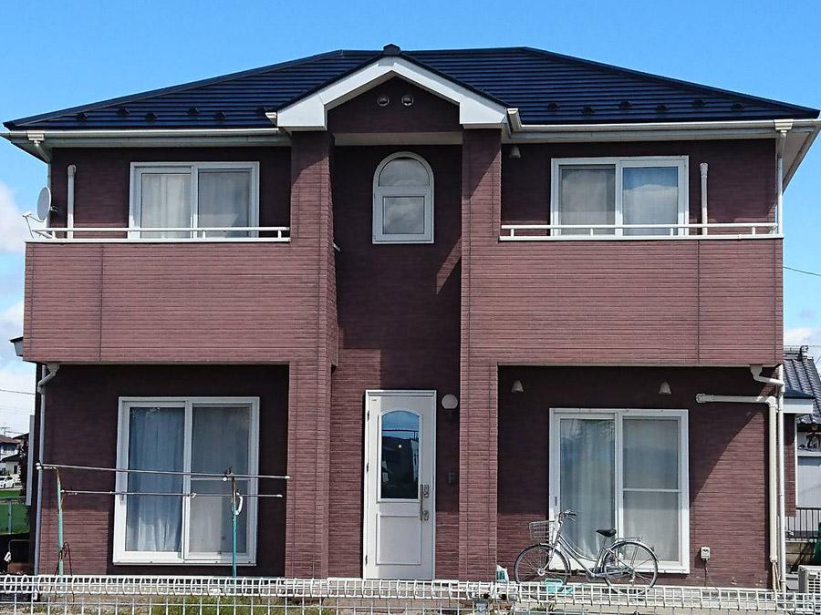 玉村町 ガルバニウム鋼板屋根塗装 完工