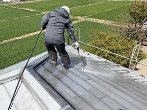 玉村町 ガルバニウム鋼板屋根 洗浄