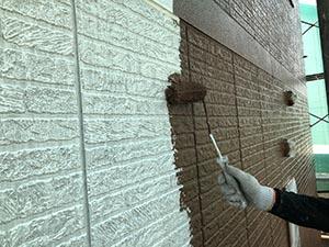 高崎市新町  壁中塗り