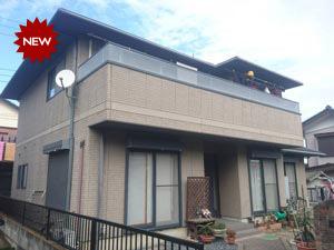 高崎市新町T様 スレート屋根とサイディング壁の塗装工事 施工事例