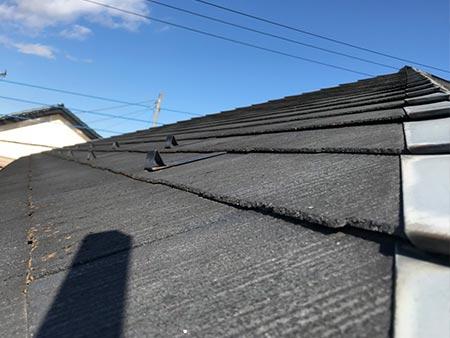 高崎市新町 コロニアル屋根塗装前