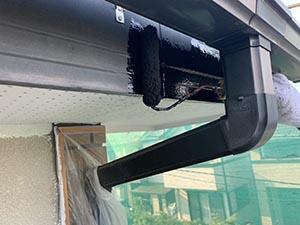 高崎市中居町 破風板塗装