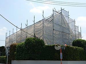 前橋市天川原町屋根外壁塗装 足場