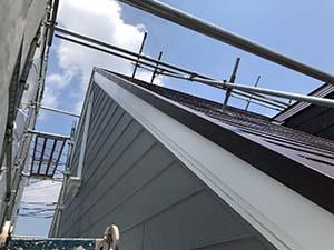 前橋市天川大島町 破風板塗装