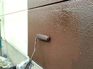 前橋市粕川町ALC外壁上塗り茶色