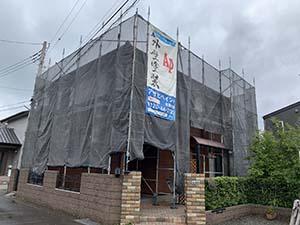 前橋市粕川町ALC外壁塗装 足場