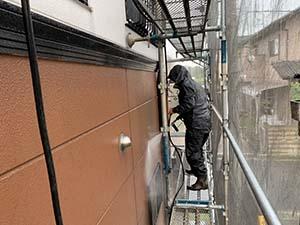 前橋市粕川町ALC外壁塗装 高圧洗浄