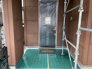 前橋市粕川町ALC外壁塗装 ビニール養生