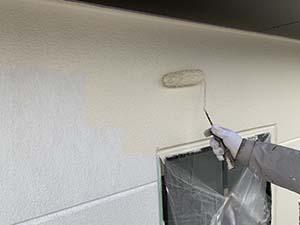 前橋市粕川町ALC外壁 中塗り