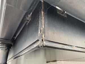 前橋市粕川町ALC外壁 破風板補修